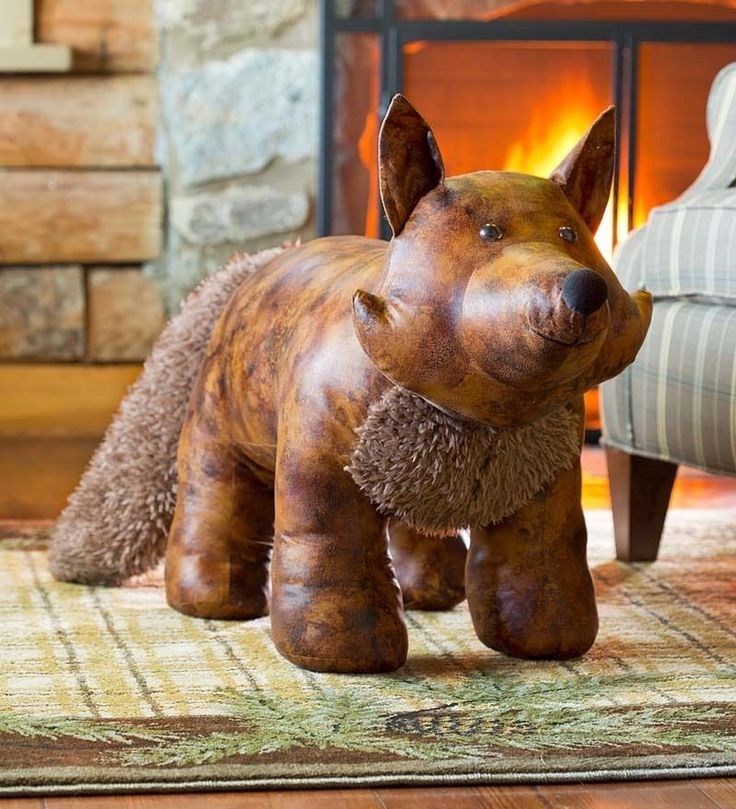 25 Best Images About Leather Animal Ottoman On Pinterest