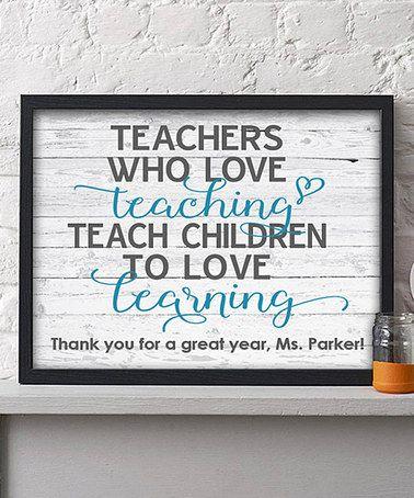 Look at this #zulilyfind! 'Teach Children to Love Learning' Personalized Print #zulilyfinds