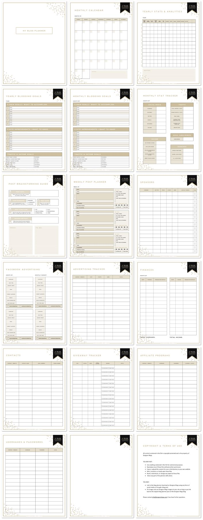 Free Printable Blog Planner! This looks amazing.
