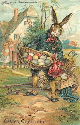 German settlers believed a white hare would leave brightly colored eggs for all good children on Easter morning. Early American children built nests of leaves and sticks in their gardens for the Easter Hare to fill with colored eggs. By the 19th century in America, the Easter Hare had become the Easter Bunny delighting children with baskets of eggs, chocolates, candy chicks, jelly beans and other gifts on Easter morning. Today, children also hunt colored eggs and place them in Easter…