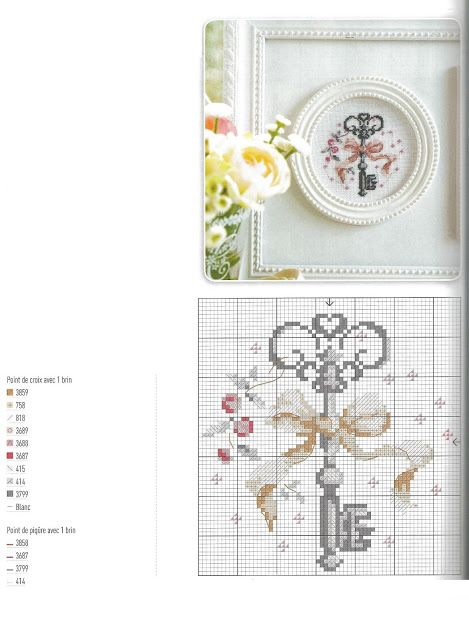 Key cross stitch template