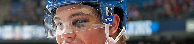 Why Taylor Hall now wears his helmet during warm-ups.