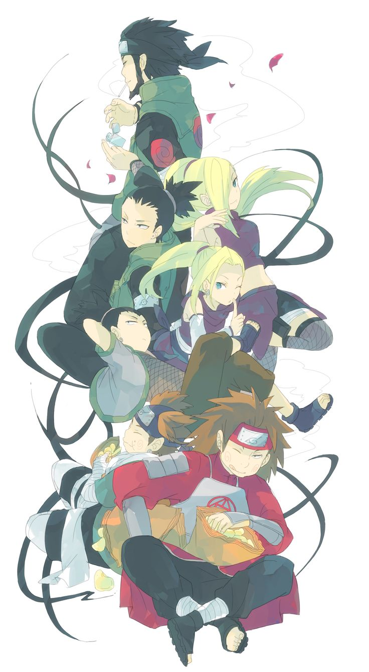 Tags: Fanart, NARUTO, Nara Shikamaru, Pixiv, Sarutobi Asuma, Yamanaka Ino, Akimichi Chouji, Fanart From Pixiv, Team 10, Pixiv Id 16841197