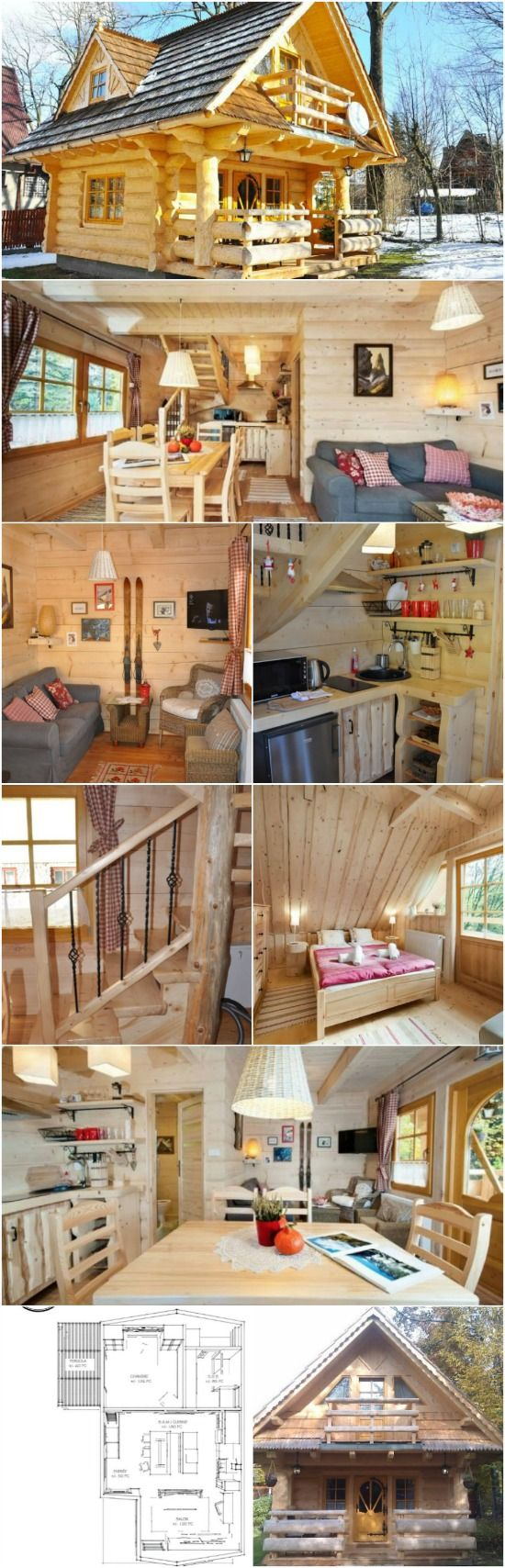 "Lovely 296Sf Handmade Tiny Log House by The Little Log House Company - The Little Log House Company designs and builds the most beautiful homes with details inspired by fairytales. Their models are nothing short of breathtaking and whimsical and feature handmade details and gorgeous natural wood logs. The ""Stunning Gate Lodge"" below is one of their tiny houses and at only 296 square feet it lives up to its name!"