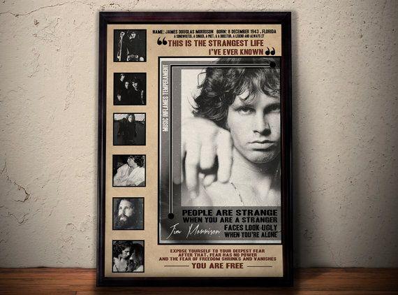 JIM MORRISON POSTER Jim Morrison Song Lyric Art Jim by POTAPOTA