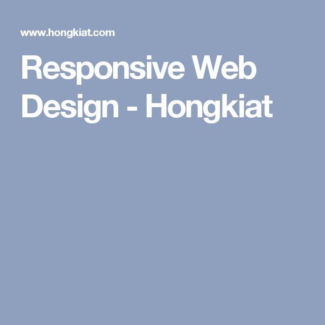Responsive Web Design - Hongkiat