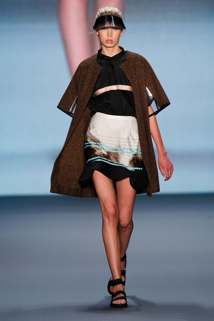 Look 14: Aired Coat with Belvedere Shirt and Dazzle Skirt