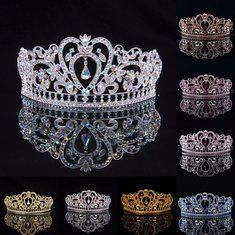 #Banggood Невеста горный хрусталь кристалл свадьба тиара корону принцессы выпускного вечера Pageant коронок фату оголовье (1102573) #SuperDeals