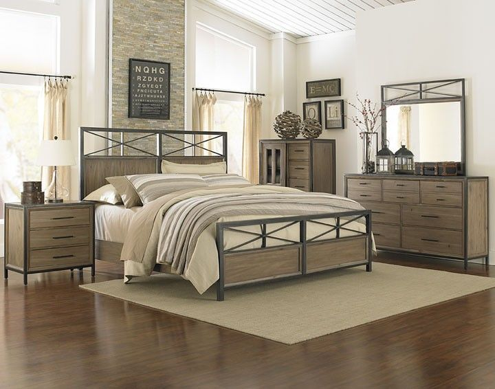 38 best images about rustic industrial on pinterest - Industrial bedroom furniture sets ...