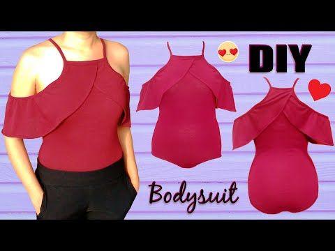 DIY Costura Blusa sin hombros (patrones gratis) - YouTube