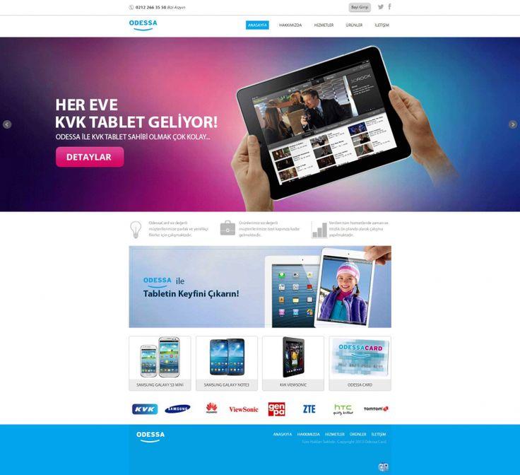 http://www.gustobilisim.com.tr/referanslar Firma: Odessa Card Proje: Web Tasarım , Programlama , Bayi Sistemi