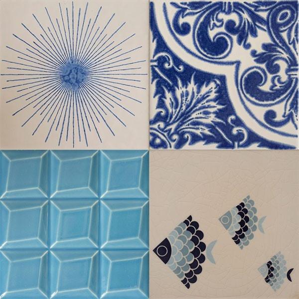 Os Combos resultam de uma combinação de quatro azulejos distintos seleccionados da colecção Cortiço & Netos. Evocam um passado, uma memória e um património, tornando-o, assim, presente.