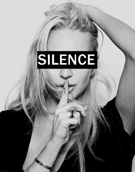 silence | don't speak