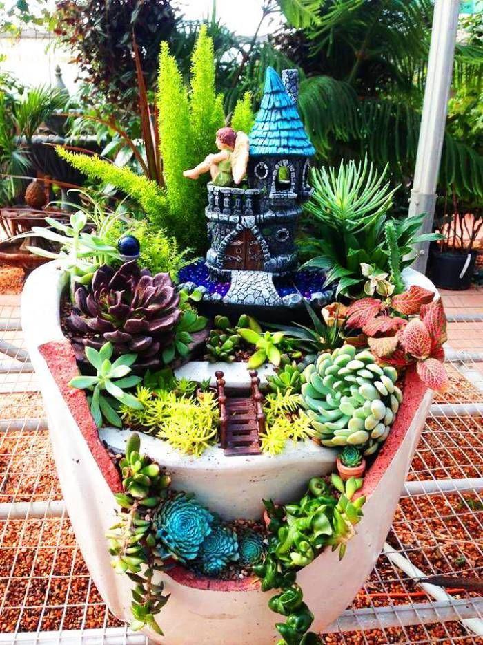 ideias sobre jardins:1000 ideias sobre Vaso De Jardim Quebrado no Pinterest