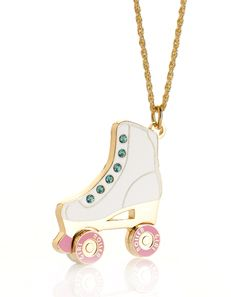 Roller Girl Roller skate necklace from meandzena.com