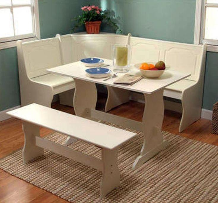 Details About Corner Nook Dining Set Breakfast Bench Kitchen Booth