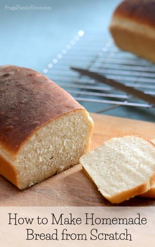 How to Make Bread from Scratch with Video Instruction   Frugal Family Home