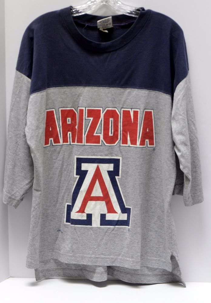 VTG University of Arizona Shirt Medium 00 Gray Blue Red NCAA U of A Wildcats USA #Nutmeg #ArizonaWildcats
