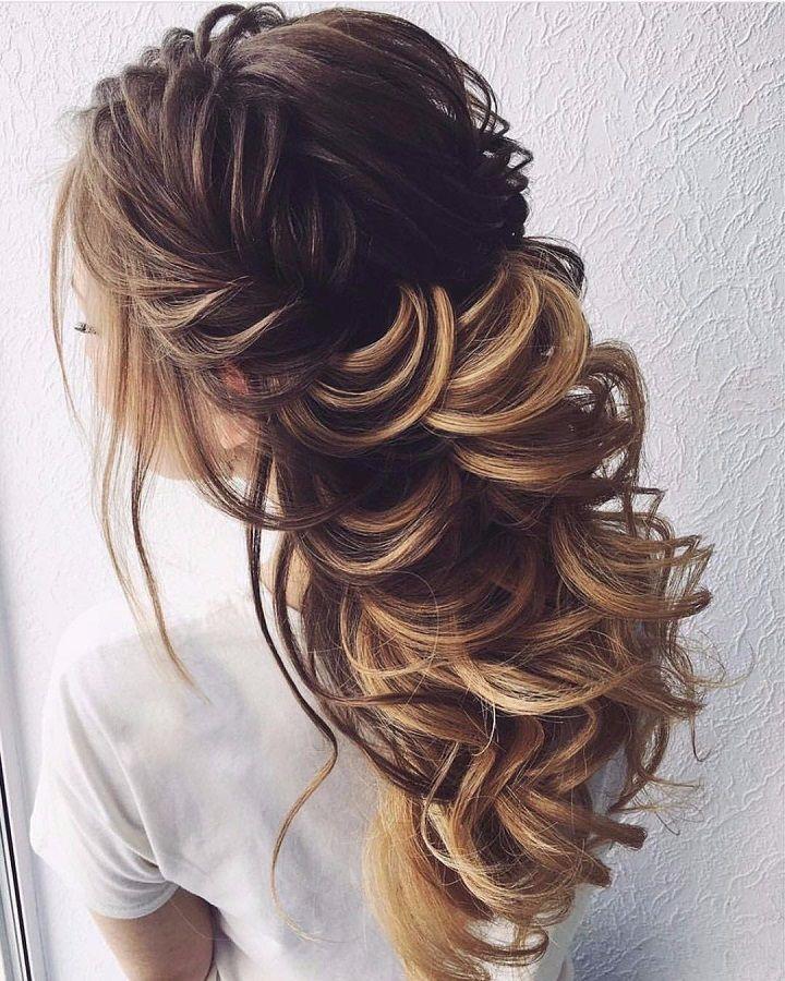 Beautiful and elegant braid half up hairstyle inspiraiton #weddinghair #weddingupdo #hairstyle #hairideas #updo #upstyle #messyupdo #hairinspiration