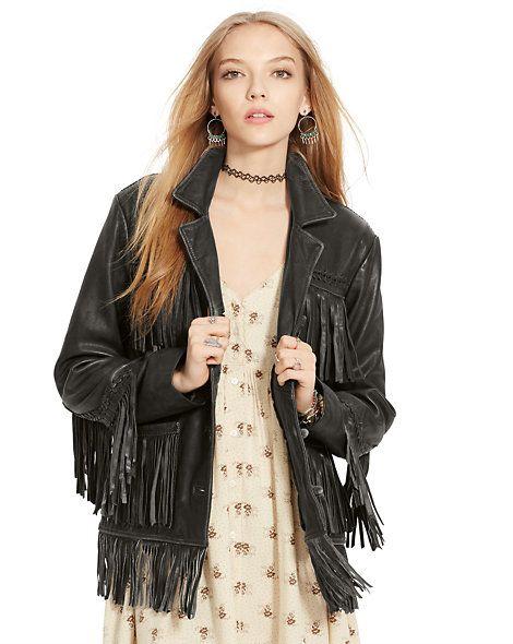 Veste en cuir à franges - Voir tout Prèt-à-porter - Ralph Lauren France