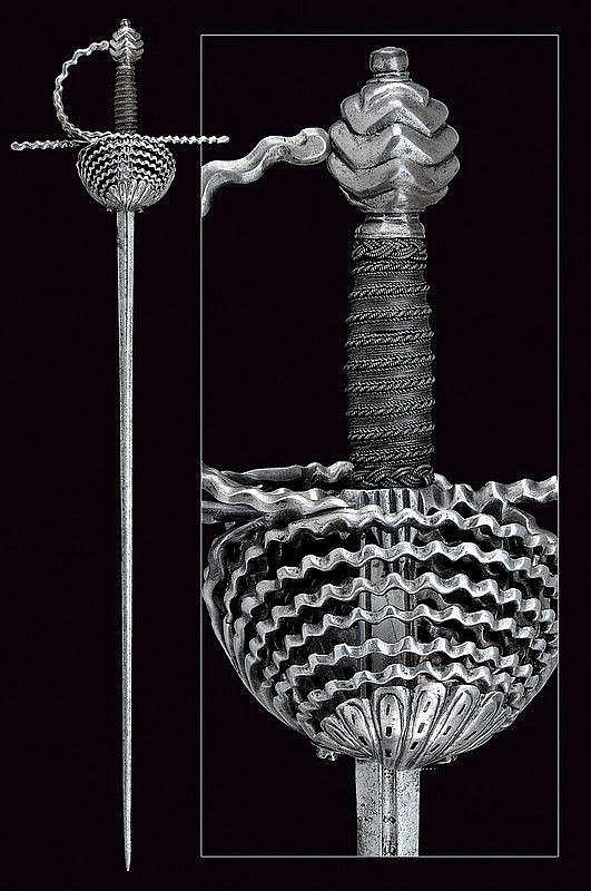"Espada ropera. Inicios del siglo XVII. Sudeste de Europa. Hoja marcada ""SEBASTIAN HERNANDEZ"". Long.: 121 cm."