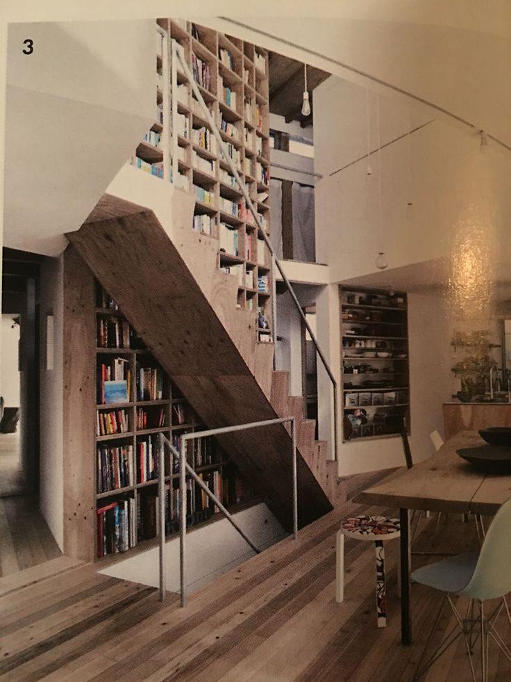 staircase bookshelf on pinterest staircase storage stair shelves
