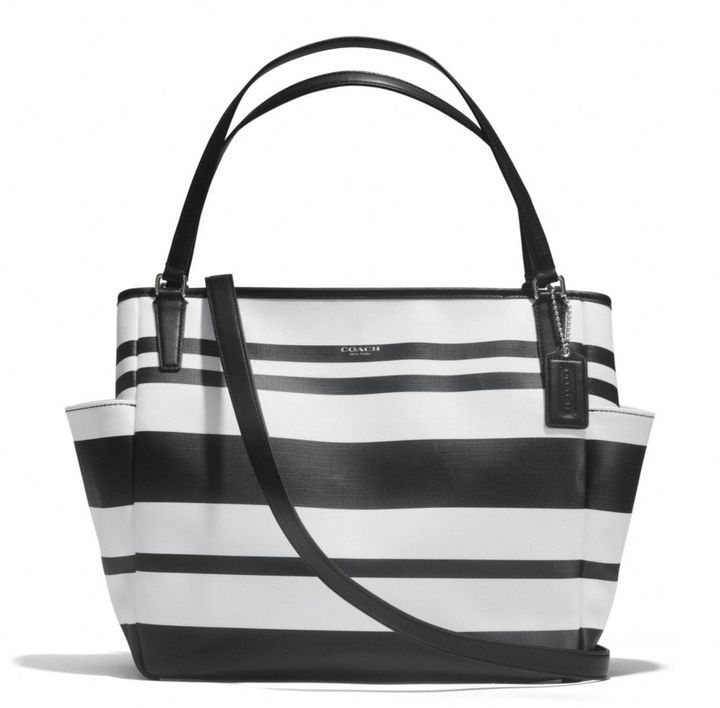 Coach キャンバス ベビー バッグ トート / Coach striped diaper bag on ShopStyle
