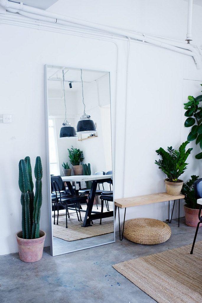 // Interior - Large Mirror + Plants