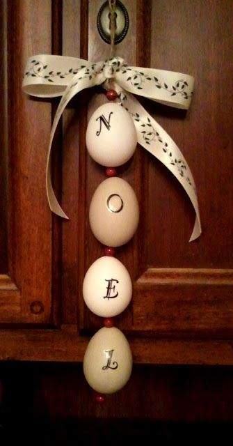 Blowing Out Eggs for Crafts, Christmas Ornaments