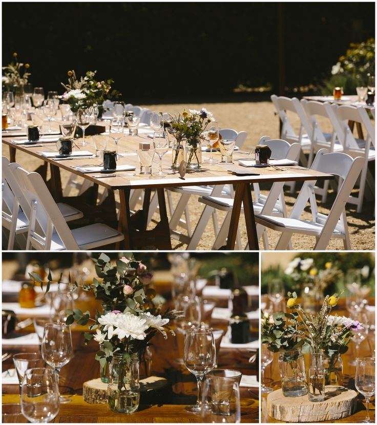 Tables set ready, a rustic themed event // photography Liz Arcus // venue Euroa Butter Factory
