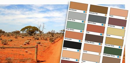 From the fiery tones of Australia's outback to the greens and greys of bush and rock.