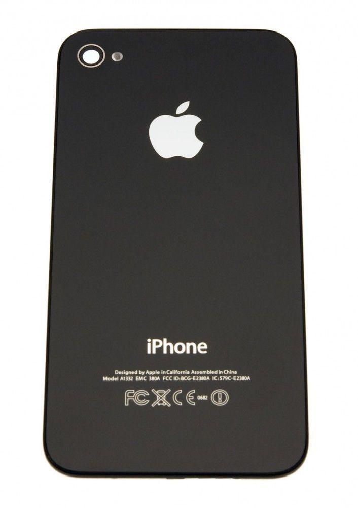 Original Apple Akkudeckel Rückseite Backcover passend für  iPhone 4S in schwarz