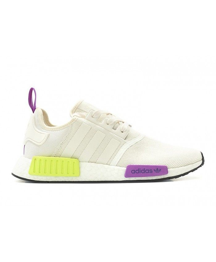 huge selection of daa45 b8c5c Adidas NMD R1 Off White Purple Neon Yellow | Shoes in 2019 ...