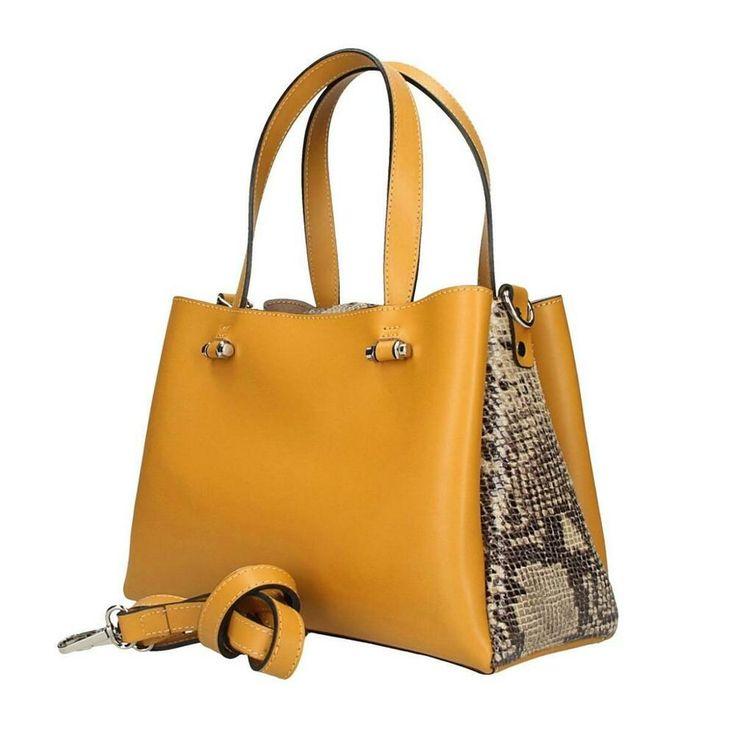 [Werbung] ITALy DAMEN LEDERTASCHE Shopper Schultertasche Handtasche Python Muste… – Italyshop24.com