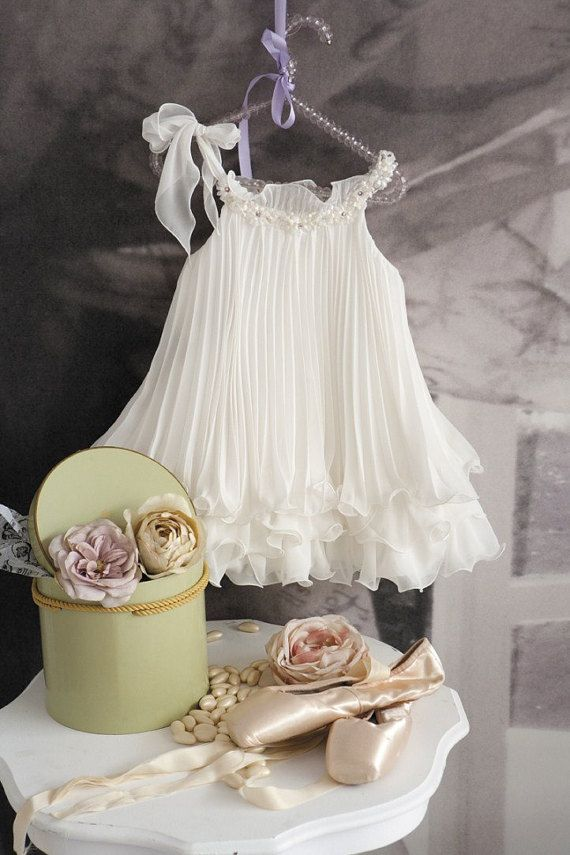 Christening Dress Christening Gown Pleated by StyledByAlexandros
