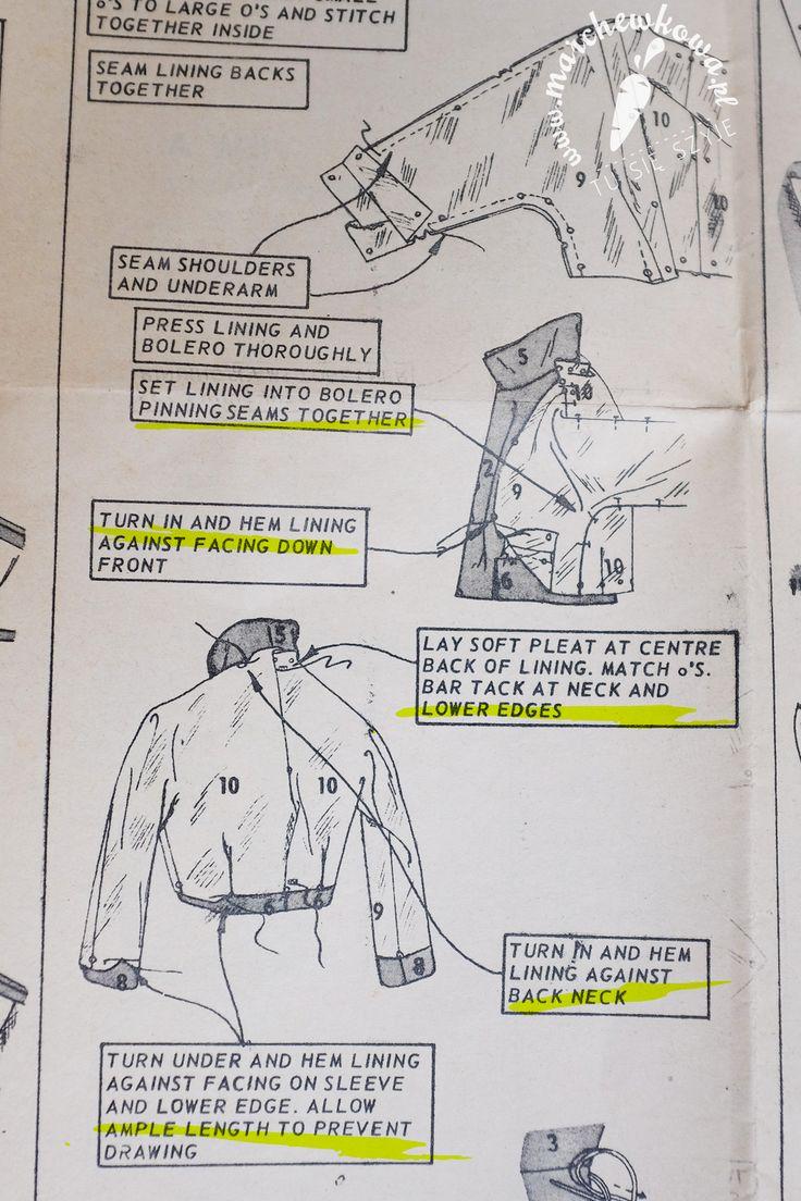 marchewkowa, blog, szycie, sewing, rękodzieło, handmade, moda, styl, vintage, retro, repro, 1950s, 1960s, Wrocław szyje, w starym stylu, kostium, żakiet, spódnica, Burda 9/2009, 2/2017, wykroje, patterns, elanowełna, rozciągliwa podszewka, polyester-wool mix, vintage buttons