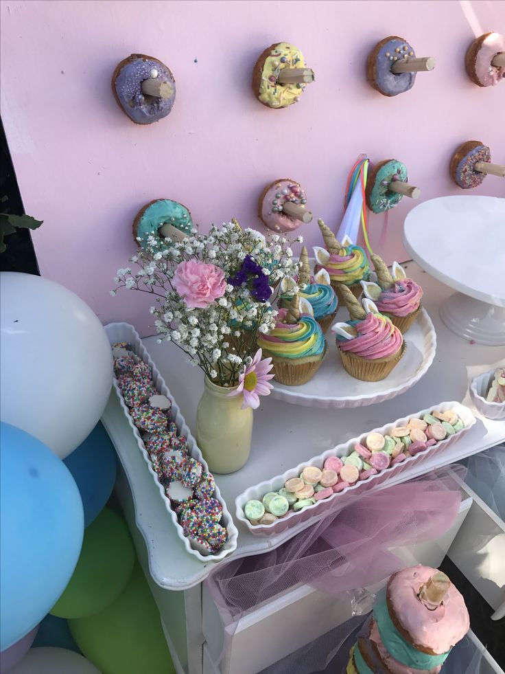 Unicorn cupcakes and donuts