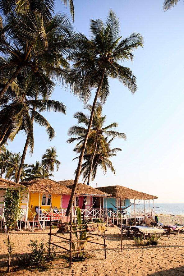 Beach huts in Goa, India                                                                                                                                                                                 More