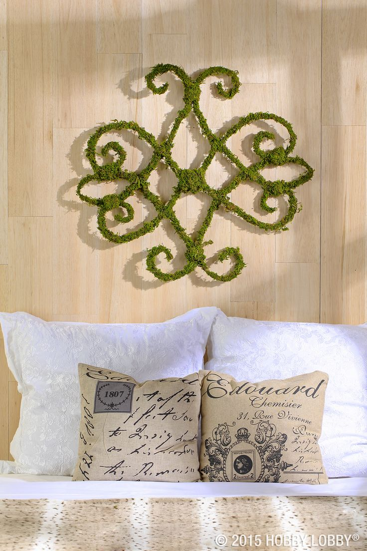 Mason Jar Wall Decor Hobby Lobby : We used wired moss vine to make this gorgeous wall d?cor
