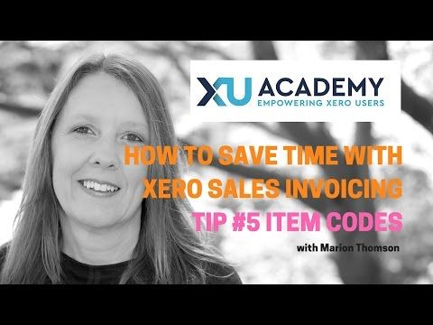How to use Item Codes in your Xero Sales Invoices - YouTube