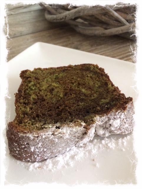 Japanse groene thee (matcha) cake