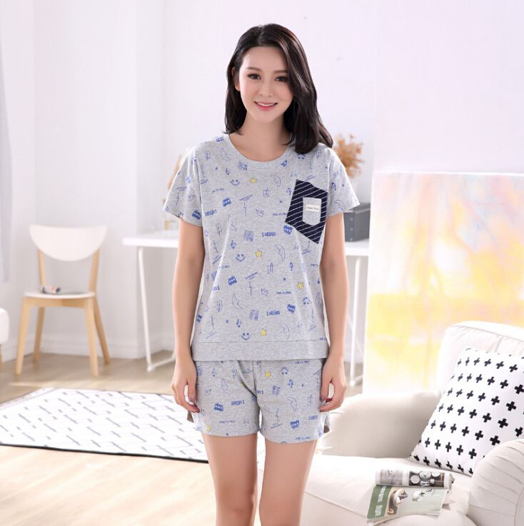 Sexy Pajamas Cotton Shorts Sleepwear Women Nightwear Comfortable Ladies Pajama Sets Female Sleep Lounge SQ150