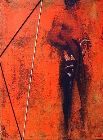 Robert Boynes, 'Sailor' 2012, acrylic on canvas, cord, 61.5 x 46cm