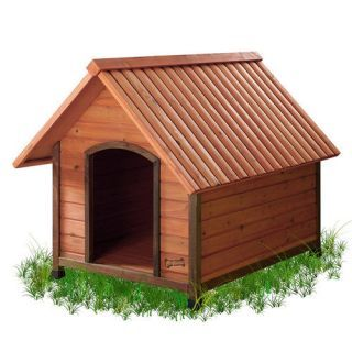Pet Squeak Arf Frame Dog House With Natural Frame, Wooden Dog House,  Weather Resistant