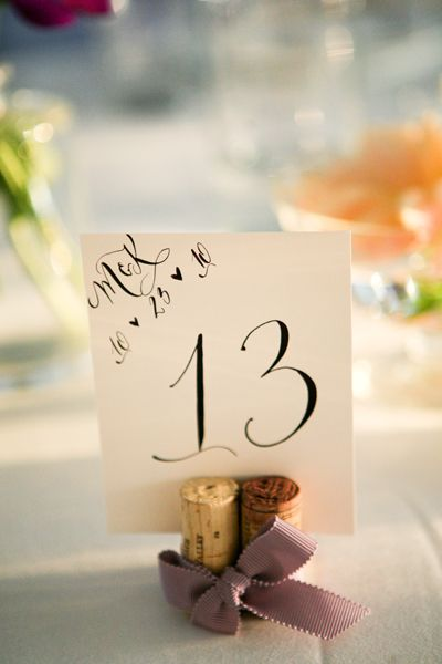 table numbers-love the wine cork idea