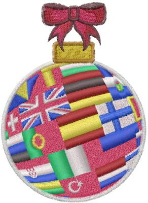 European Flag Ornament Embroidery Design | AnnTheGran