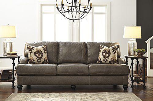Kannerdy Quarry Color Contemporary Leather Sofa