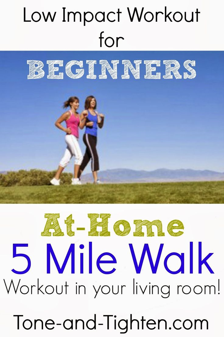 Low Impact Workout for Beginners - 5 Mile At-Home Workout - who knew you could do this at home? Tone-and-Tighten.com
