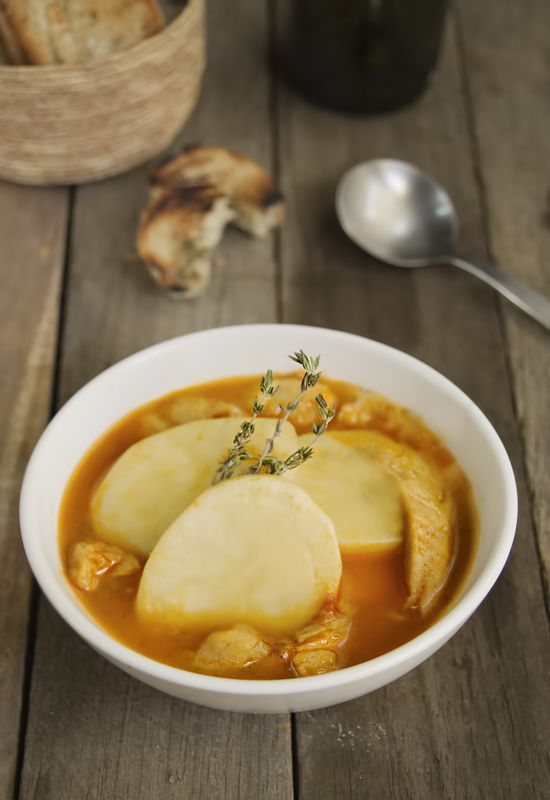 Receta 517 bouillabaisse de patatas y bacalao 1080 - Patatas en caldo con bacalao ...