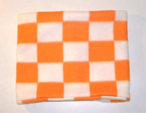9 x 22 Inch Orange and White Checkered Fleece by Handmadecrafter, $7.00: Tube Scarf, Checkered Fleece, Comfy Fleece, 22 Inch, Neck Warmer Gaiter Buff, White Checkered